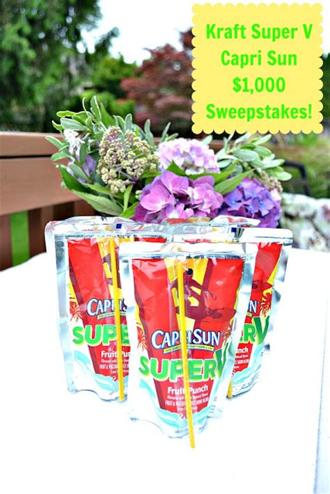 Capri Sun Sweepstakes - 1 000 visa gift card giveaway from kraft at the picket fence