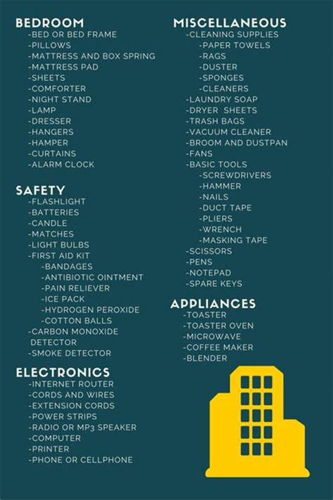 household items list for new home 17 best ideas about college apartment checklist on