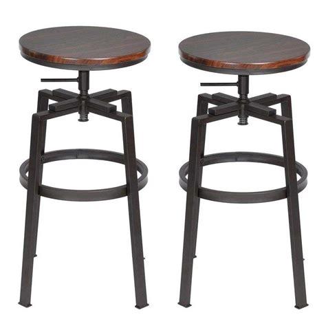 sgabelli design offerta set 2 sgabelli bar cucina design vintage in legno e