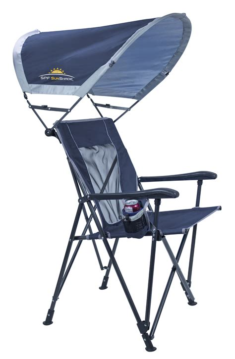 folding lawn chair with sunshade gci outdoor sunshade eazy chair cing furniture