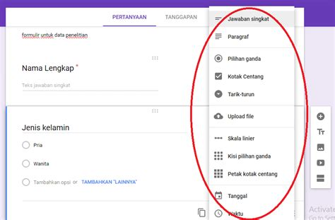 cara membuat skoring kuesioner cara membuat kuesioner online dengan google formulir