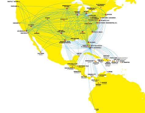 route map spirit airlines route map my