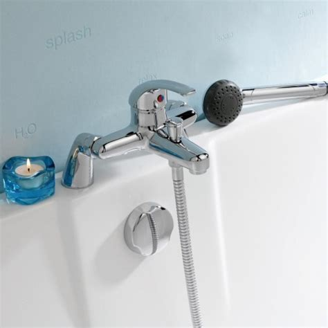 deck mount bathtub faucet with sprayer chrome deck mounted tub shower bath mixer faucet