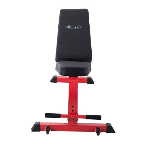 weight benches with weights included soozier 7 position folding adjustable weight bench red