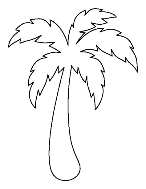 free printable palm leaves palm tree pattern use the printable outline for crafts