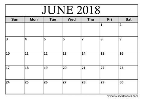 june 2018 blank printable calendar best calendar printable pdf