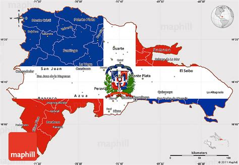 printable map dominican republic flag simple map of dominican republic
