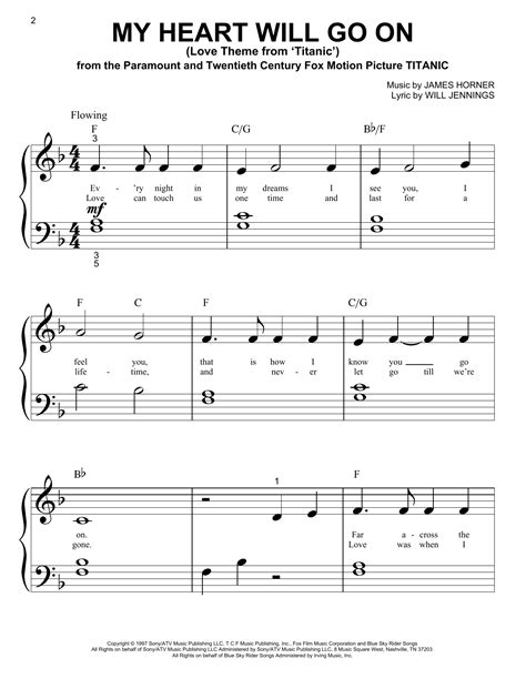 my heart will go on sheet music my heart will go on love theme from titanic sheet music