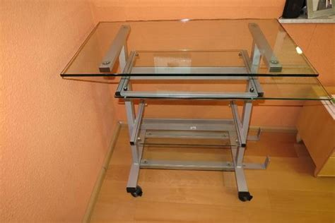 Computertisch Glas by Computertisch Glas Metall Rollbar 4 Ebenen 2 Ausziehbar
