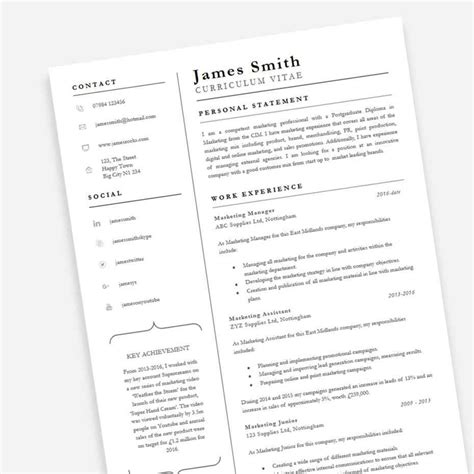 professional resume template resume cv cover letter