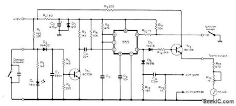 capacitive discharge ignition how does it work rpm limit alarm alarm control control circuit circuit diagram seekic