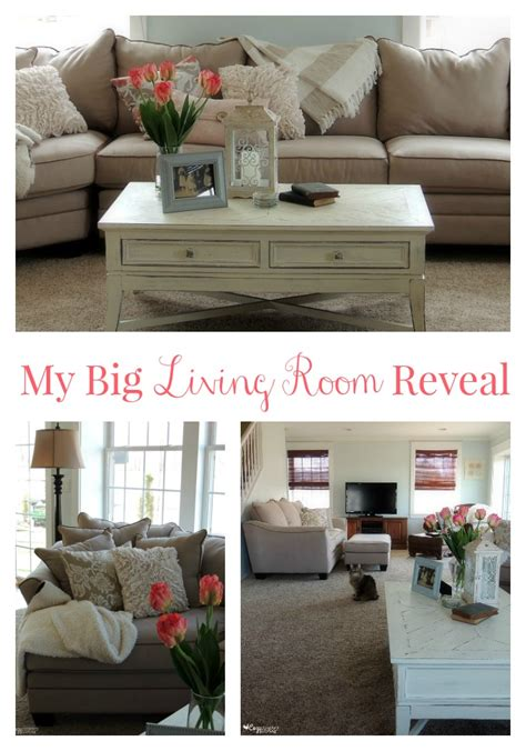 my living room the big reveal huge giveaway the my big living room reveal rfbloggers cozy country living