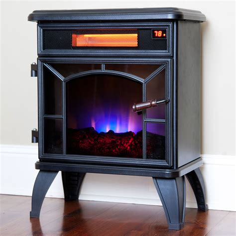 Duraflame Portable Fireplace by Duraflame Black Infrared Stove Dfi 550 0