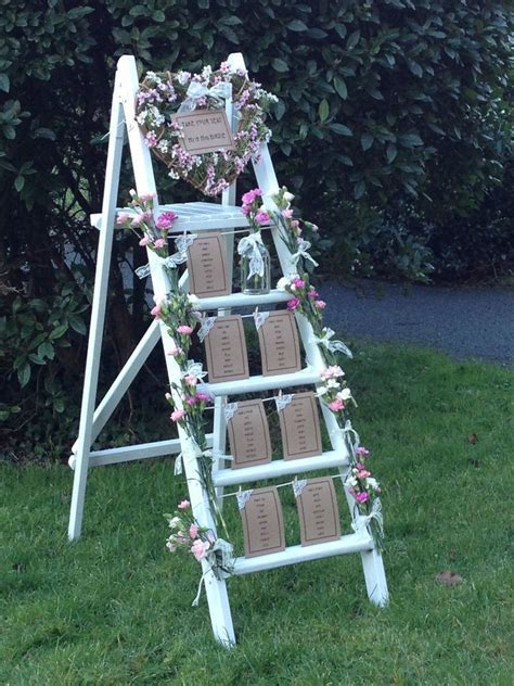 Vintage Wedding Table Plan   Ladder *Hire*   Wiltshire