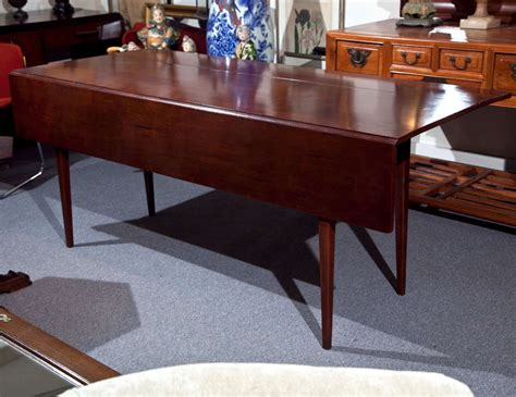 Cherry Dining Table Cherry Wood Dining Table With Drop Leaf Image 2