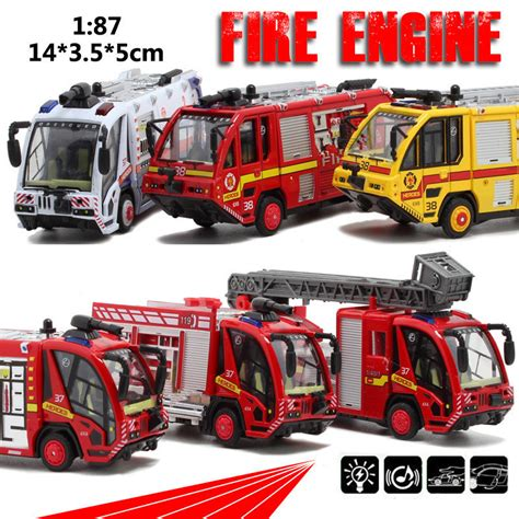 6pcs 1 87 Scale Car Engineering Aircraft Vehicle Kid best sale 187 scale alloy pull back toys engines ambulances model cars children s gifts