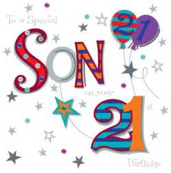son on your 21st birthday greeting card cards love kates