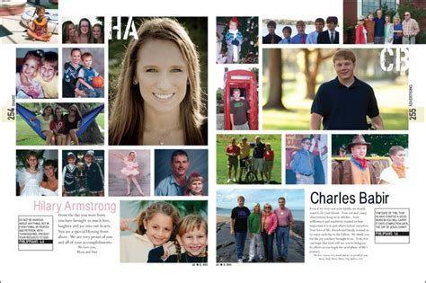 senior page layout ideas yearbook senior pages from william r boone high school yearbook