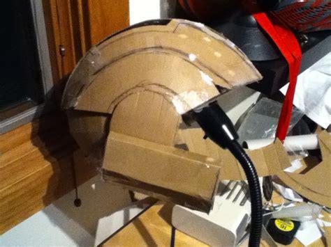 How To Make A Halo Helmet Out Of Paper - cardboard odst helmet progression
