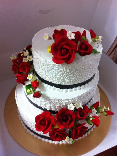 Handmade Cakes Delivered - sweet treats 3 tiers stacked wedding cake