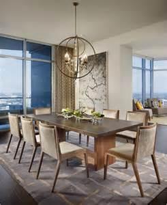 Elegant contemporary dining room by laura britt