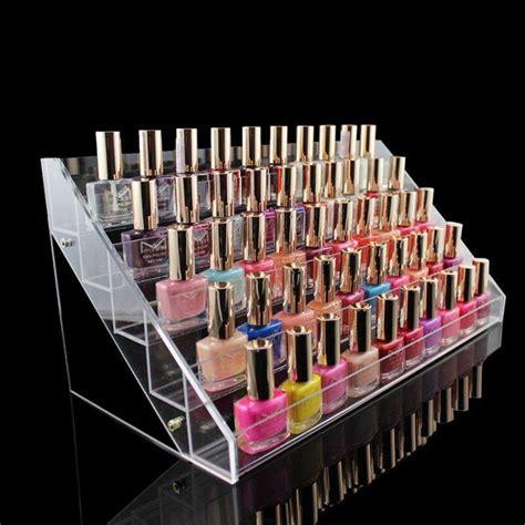 Tempat Kosmetik Lipstick Shelf Acrylic 5 layers acrylic nail display stand shelf rack makeup organizer boxes cosmetics storage