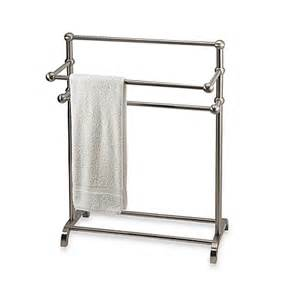towel rack bed bath and beyond 3 tier free standing towel stand in satin nickel bed