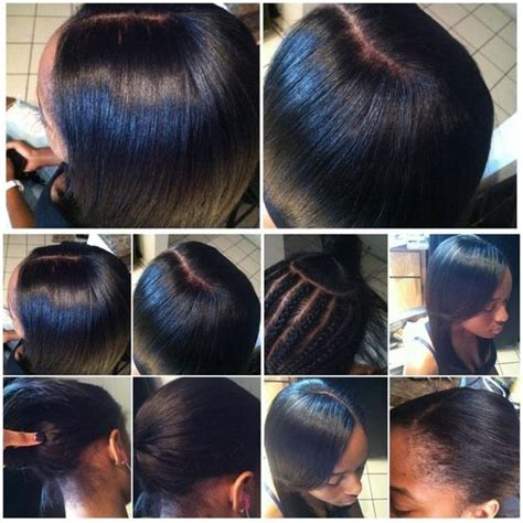 howmuchhair to use in a versatile sew in pictures