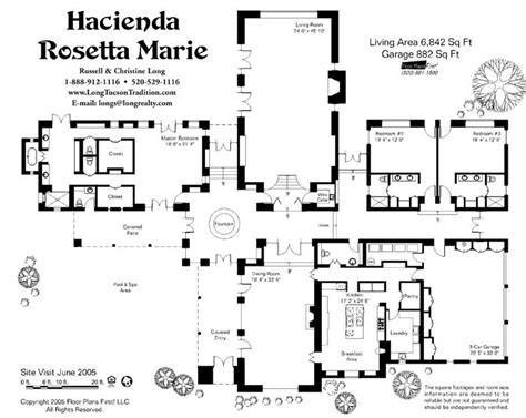 mexican hacienda house plans floor plan house floor plans pinterest