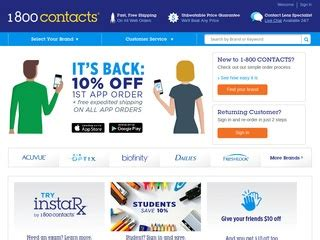 1-800 CONTACTS Rated 2/5 stars by 106 Consumers ... 1 800 Contacts Review