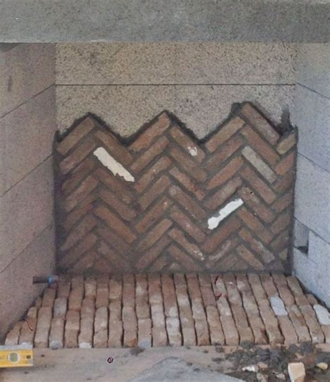Herringbone Brick Fireplace by Image 7 2 Pretty Sure I Can Make That