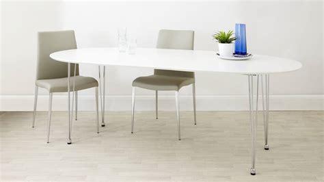 White Oval Extending Dining Table Modern White Satin Oval Extending Dining Table 6 10 Seater