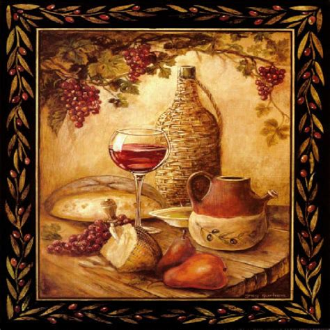 tuscan wine grapes i italian kitchen theme decor square