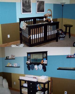 Blue And Brown Nursery Decorating Ideas Modern Blue Baseball Nursery