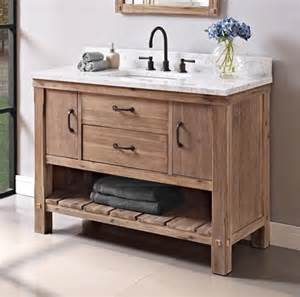 Bathroom Vanity Open Shelves Napa 48 Quot Open Shelf Vanity Sonoma Sand Fairmont Designs Fairmont Designs