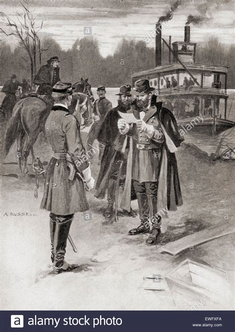 battle of shiloh general grant s arrival at the battle of shiloh aka the