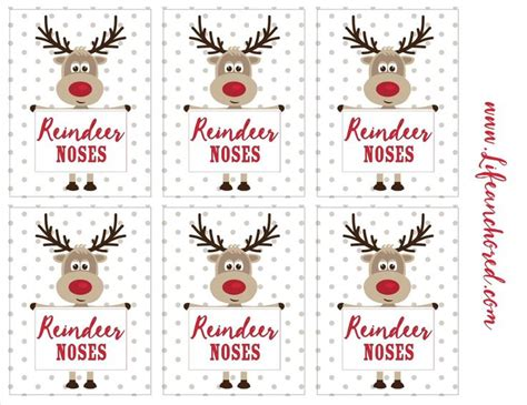 printable reindeer noses labels 1483 best images about christmas printables 5 on pinterest
