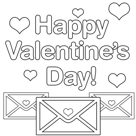 happy s day card black and white template happy valentines day coloring pages page