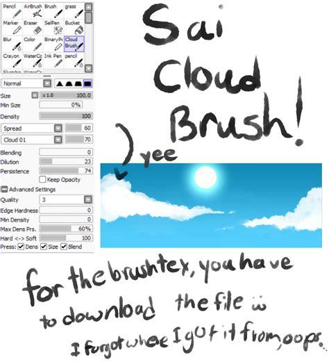 paint tool sai cloud brush paint tool sai cloud brush by oceancatspirit on deviantart