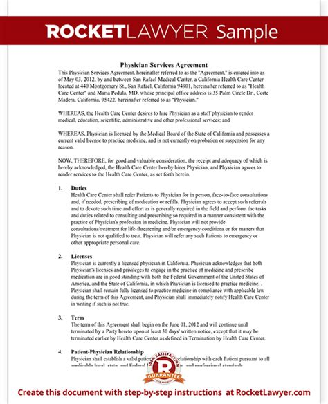 physician employment agreement physician employment contract physician services