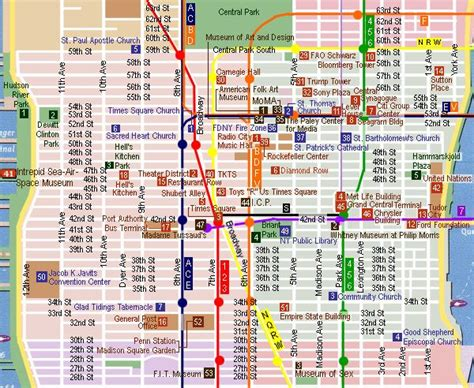 map of new york city landmarks midtown sightseeing map new york
