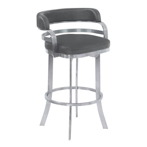 26 Counter Height Bar Stools by Prinz 26 Quot Counter Height Metal Swivel Barstool In Gray
