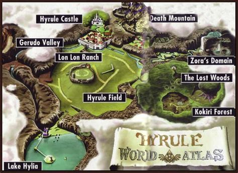 legend of zelda oot map zelda ocarina of time world dungeon maps