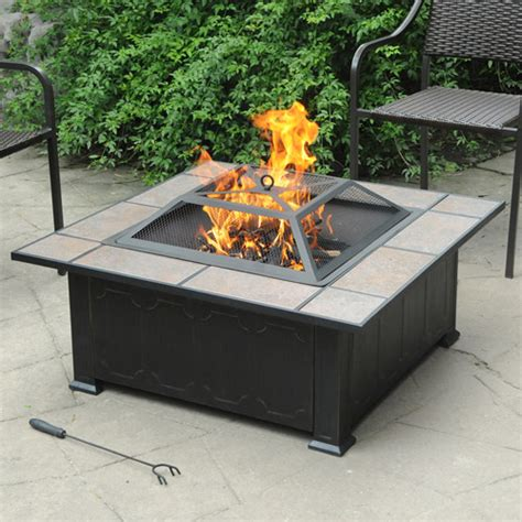 ceramic firepit axxonn tuscan ceramic tile top pit black antique