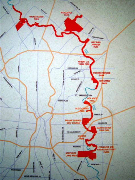 mcallister texas map salado creek greenway loop 410 to bird johnson park san antonio tourist