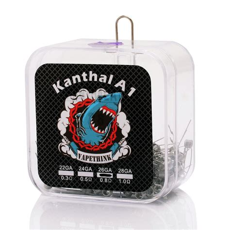 Authentic Kanthal A1 Pre Coiled Wires 045ohm authentic vapethink kanthal a1 pre coiled 200 pcs 0 8 ohm 26ga wire