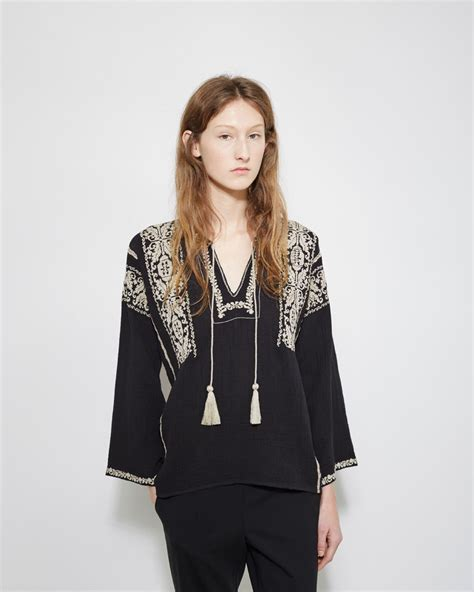 isabel marant lyst 201 toile isabel marant vince embroidered top in black