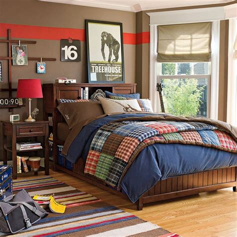 boys teen bedding new pottery barn teen patch plaid quilt home sweet home
