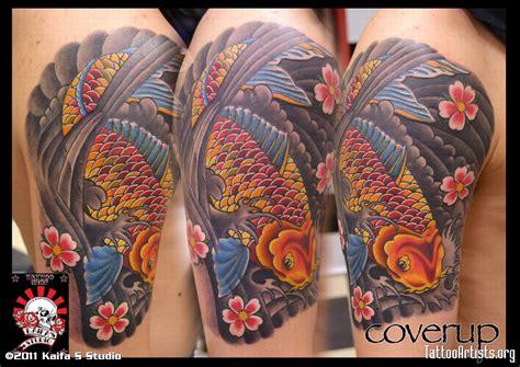 tatuaggi carpe e fiori tatuaggio carpa storia e significato