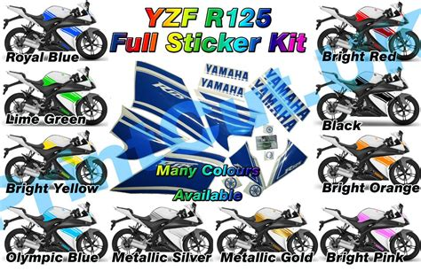 Aufkleber Yamaha Yzf R125 yzf r125 rep decal sticker pack yzfr125 2009 only